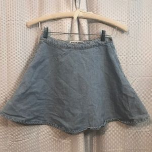"American Apparel Jean Skirt in ""light Denim"""
